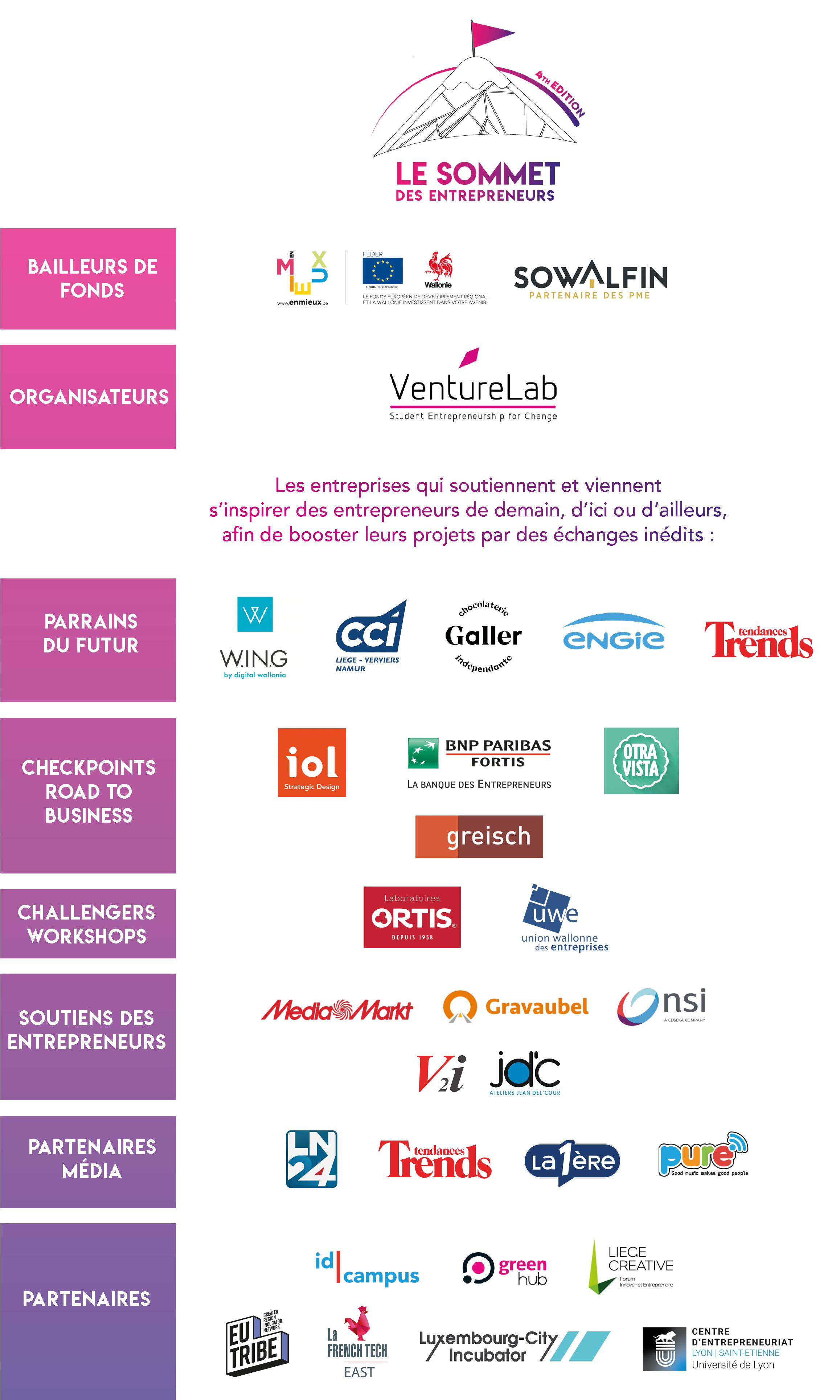 Sponsors Sommet des Entrepreneurs